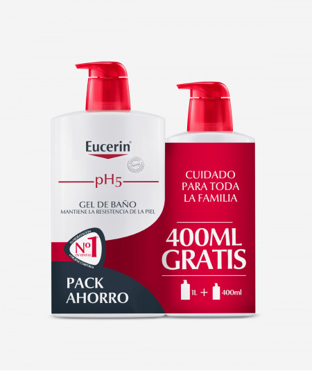 Eucerin Gel de Baño PH5 1L + 400 ML