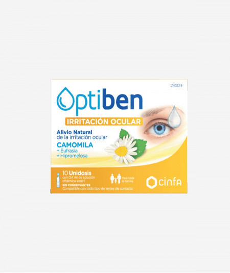 Optiben Lagrima Artificial 10 Unidosis